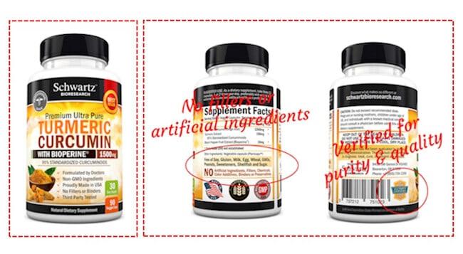 Schwartz Bioresearch Ultra Pure Turmeric Curcumin